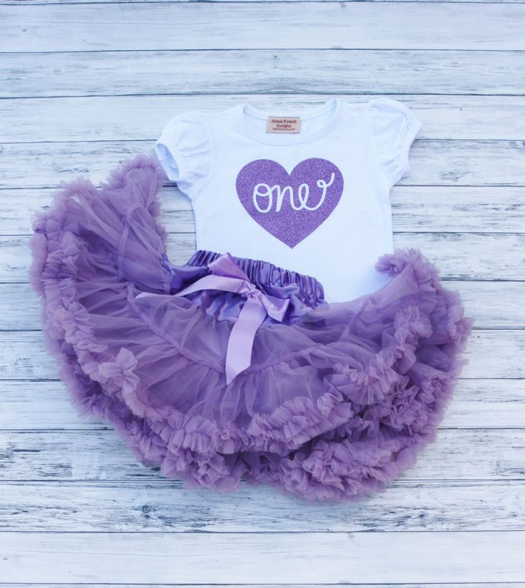 Girls Deluxe Purple Birthday Outfit Purple Skirt w/ Satin Bow and Shirt Set-One, Two etc heart, Toddler Skirt-Petti-Tutu skirt-Fluffy Skirt by jamiepowell on Etsy https://www.etsy.com/listing/257787406/girls-deluxe-purple-birthday-outfit