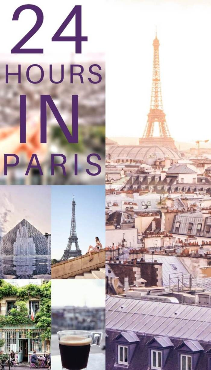 24 Hours in Paris, France- A one day itinerary for what to do, see, visit and where to eat in the capital of France.