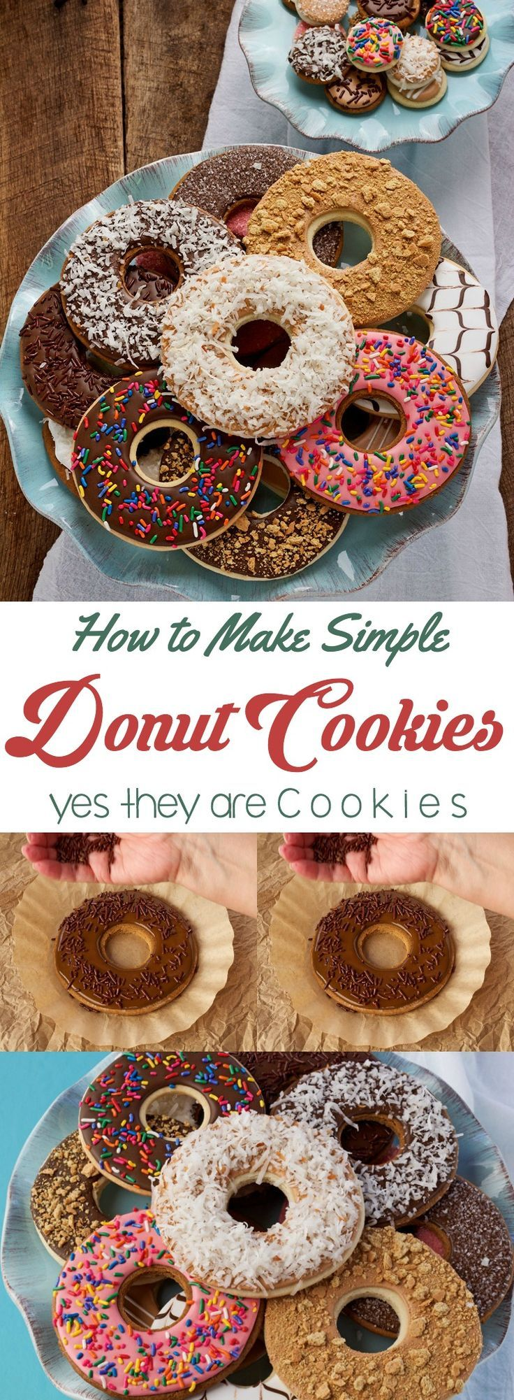 How to Make Simple Donut Cookies that Look Like they are Real Donuts | The Bearfoot Baker