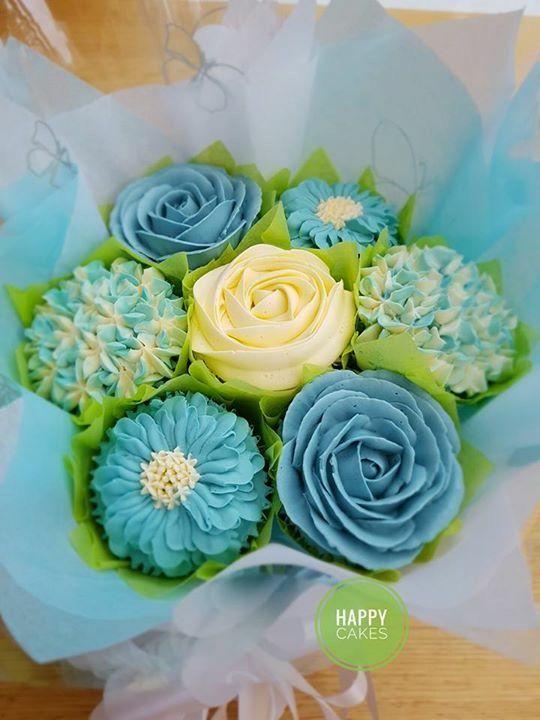 415 best Cupcake - bouquet images on Pinterest   Cupcake flower ...