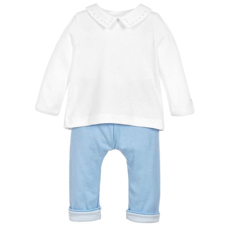 Petit Bateau - Baby Boys Cotton Top & Bottom Set |