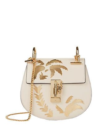 Chloé Mini Drew Palm Tree Saddle Bag