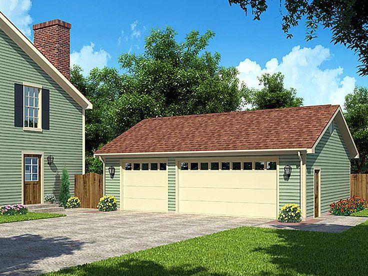 047g0022 detached 3car garage plan