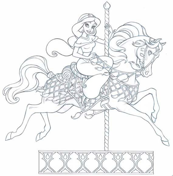 princess horses coloring pages - 1000 ideas about disney princess jasmine on pinterest