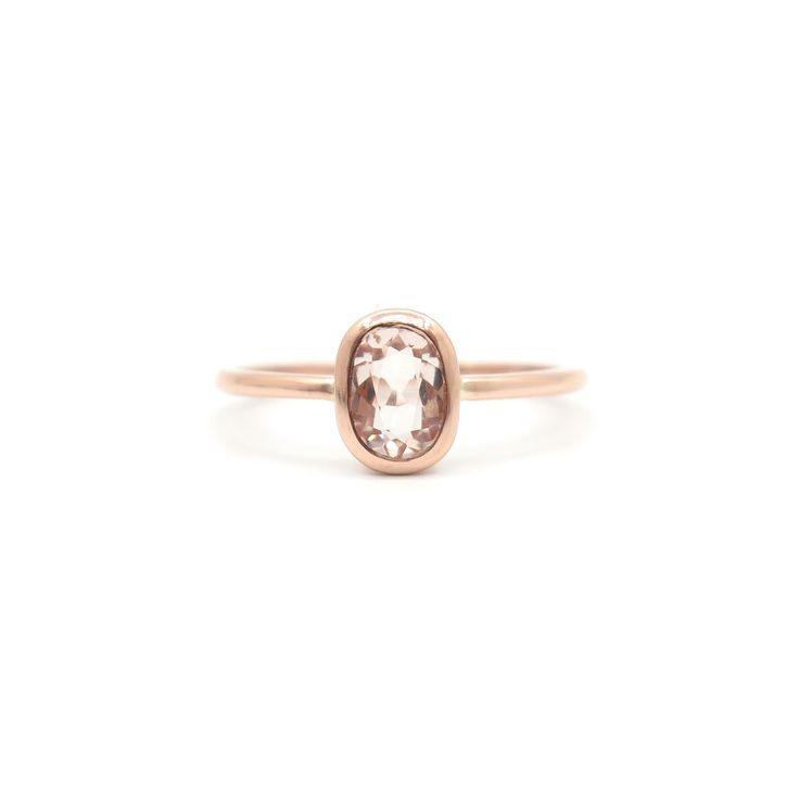 Morganite rose gold ring | Dear Rae | Commission  #DearRae #DearRaeJewellery #EngagementRing #Morganite