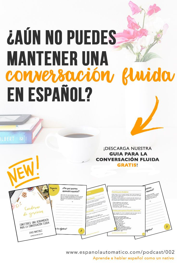 ¿Aún no puedes mantener una conversación fluida en español? Descarga nuestro FREEBIE! ✿ Spanish Learning/ Teaching Spanish / Spanish Language / Spanish vocabulary / Spoken Spanish / More fun Spanish Resources at http://espanolautomatico.com ✿ Share it with people who are serious about learning Spanish!