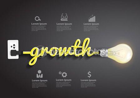 Idea de crecimiento concepto creativo bombilla — Ilustración de stock #67592079