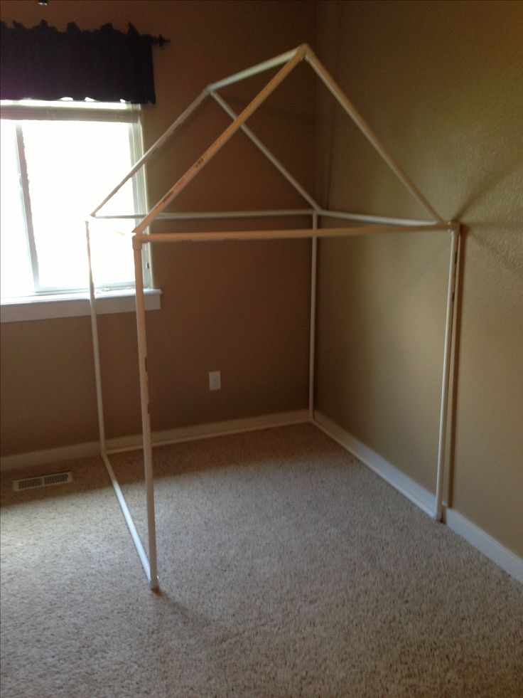 Kids DIY fort/playhouse made of PVC pipe! Easiest project!