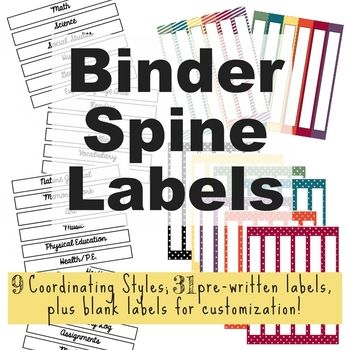 Best 25+ Binder spine labels ideas on Pinterest Classroom labels - binder spine template