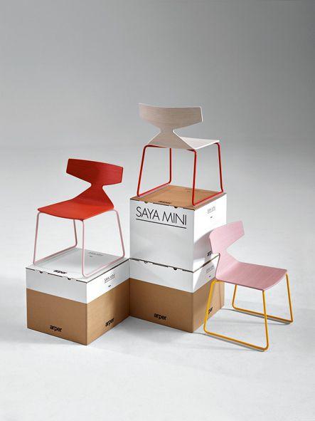 Arper I Saya Mini packaging design Laura Armet #mobilimania #budapest www.mobilimania.hu