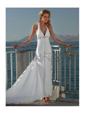 Abiti da Sposa Spiaggia-Guaina abiti da sposa spiaggia capestro treno abiti da sposa spiaggia