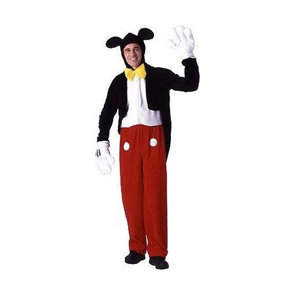 Adult Mickey Mouse Costume ($55) ❤ liked on Polyvore featuring costumes, adult halloween costumes, mickey mouse costume, red costumes, adult costume and mickey mouse halloween costume