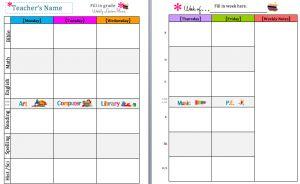 Editable Free Lesson Plan Template