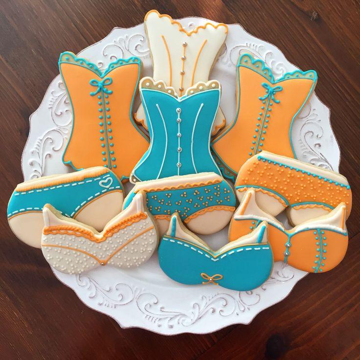 Bridal lingerie shower cookies |Sugar Tree Cookies