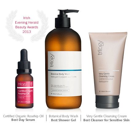 A trio of awards in the Irish Evening Herald Beauty Awards 2013. https://www.trilogyproducts.com/about-us/trilogy-talk/a-trio-of-awards-for-trilogy/
