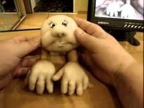Видео мастер класс.Кукла из чулок на удачу.3 часть 10.18 мин. | Хорошая ИДЕЯ