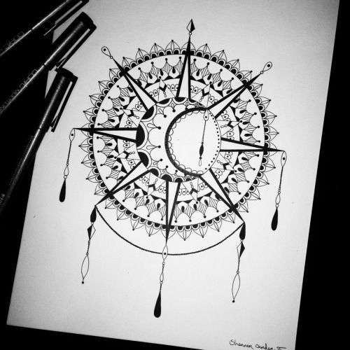 sun and moon mandala drawing tumblr - Recherche Google