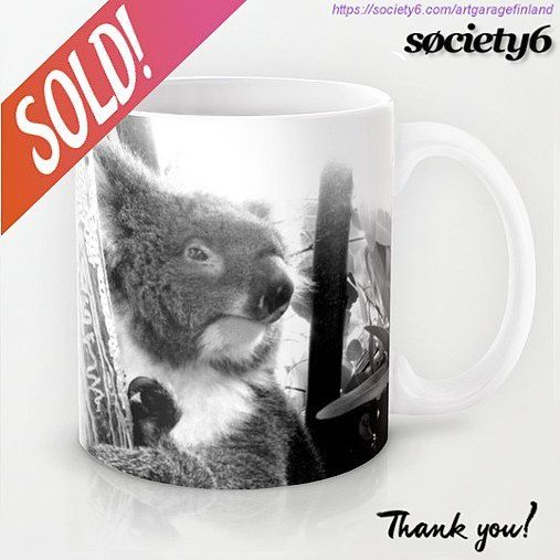 Sold!!! ☕😀 .. thanks to the person who bought this 'Koala' mug design from my Society6 webshop. Link in my bio.   #koala #sold #australia #society6 #mug #koalabear #instakoala #koalamug #instaphoto #downunder #mugoftheday #cups #instalike #instalikes #fotografia #photography #instaartist #animals #australian #blackandwhite #giftideas #cuteanimals #outback #gday #furryfriends #morningcuppa #eucalyptus #wildlife #shareyoursociety6 #noveltymugs