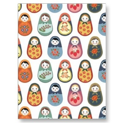 Nesting doll print postcards at zazzle: Pattern, Wrapping Papers, Russian Dolls, Matryoshka Wraps, Nests Dolls, Matryoshka Dolls, Prints, Wraps Paper, Design