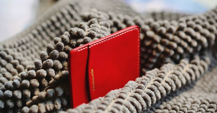 Deep leather card wallet