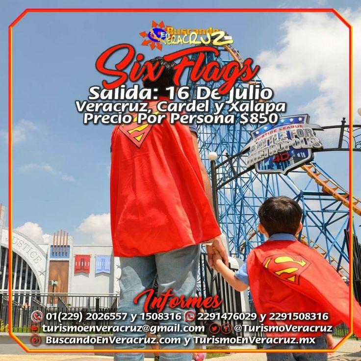 Este 16 de julio disfruta como #niño con las atracciones que #Six Flags pone a tu disposición. El paquete te incluye: Traslado Viaje Redondo, Coordinador de Grupo, Seguro de Viajero y Entrada Al Parque Precio Por Persona $850  RESERVA AHORA Más información en: Tels: 01 (229) 202 65 57 y 150 83 16  WhatsApp: 2291476029 y 2291508316 Email / Hangouts: turismoenveracruz@gmail.com Link…