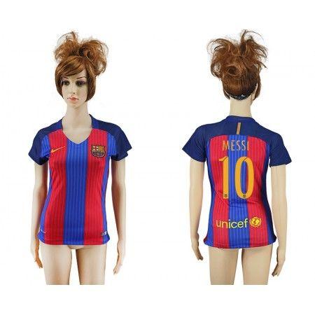 Barcelona Fotbollskläder Kvinnor 16-17 Lionel #Messi 10 Hemmatröja Kortärmad,259,28KR,shirtshopservice@gmail.com