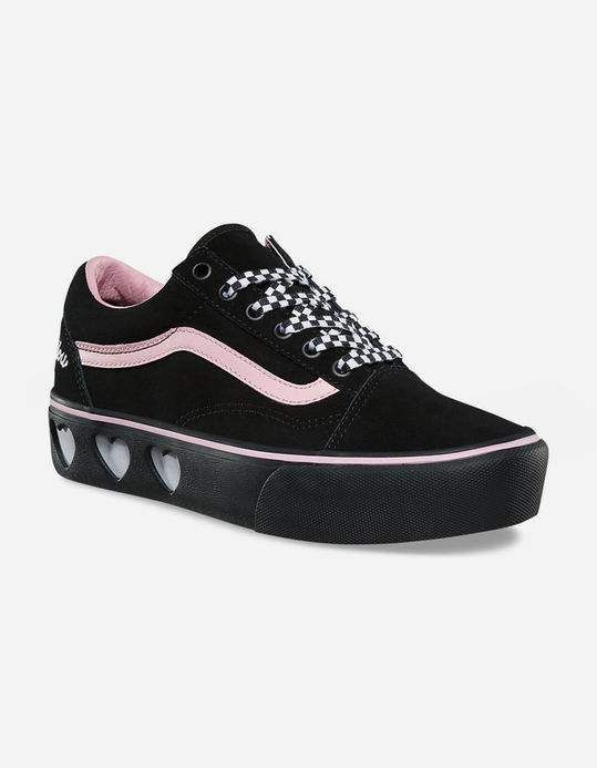 VANS x Lazy Oaf Old Skool Platform Black Womens Shoes  74ba5d643