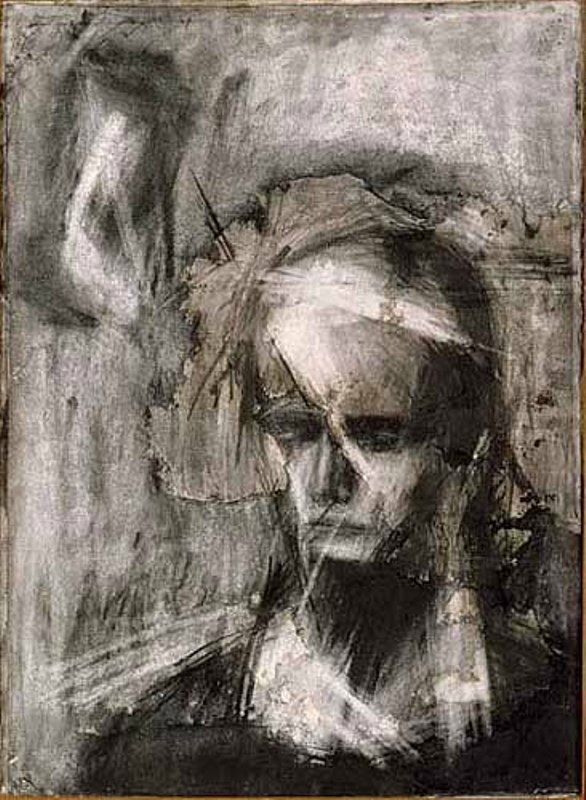 Head of Julia, c1960, Frank Helmut Auerbach