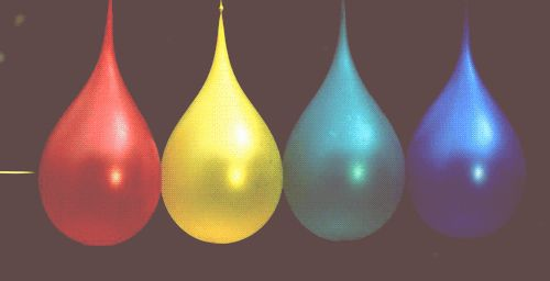 water gifs | The Morning GIF: one bullet, four water balloons