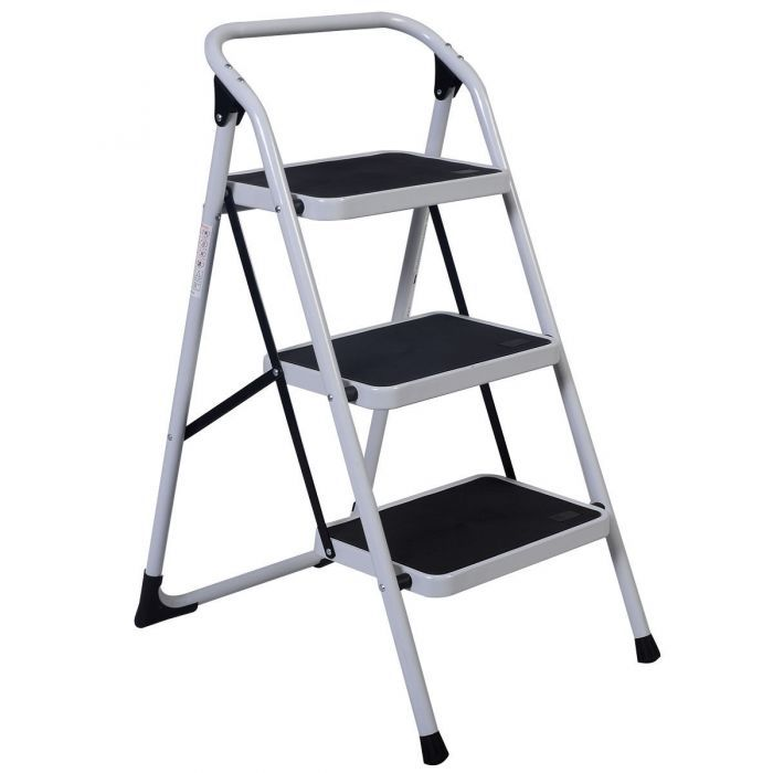 3 Step Ladder Folding Heavy Duty Step Stool Step Ladders