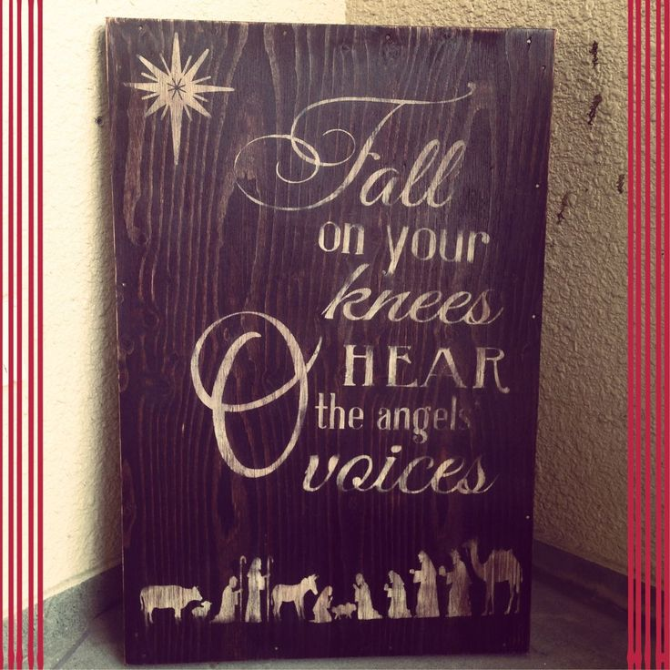 41 best images about christmas on pinterest christ for O holy night decorations