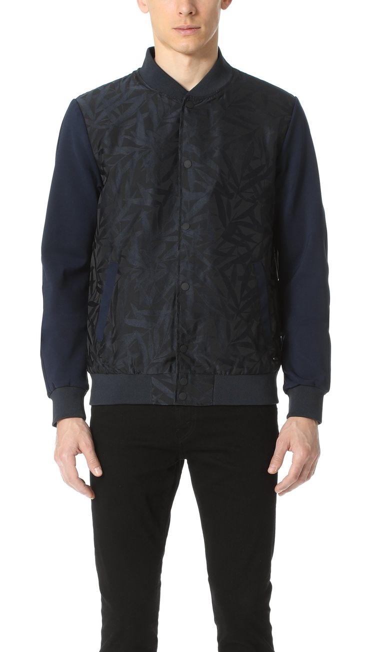 Scotch & Soda Men's Nylon Bomber Jacket, Combo A, Medium