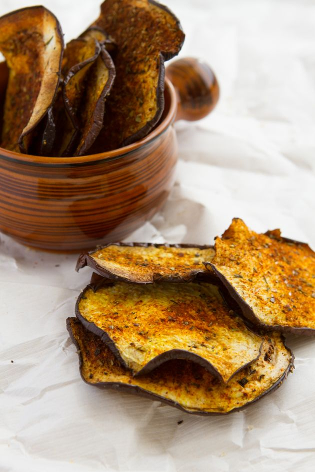 Crisp Eggplant Chips with Smoky Seasoning | Healthful Pursuit