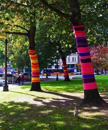 Los arboles tambien se visten!! Art in Public space