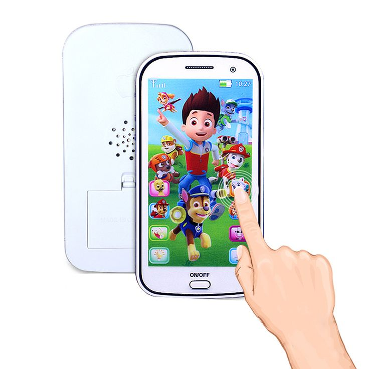 1* Kids Baby Cute Patrol Dog Musical Learning Figure Educational Mobile Phone Toys Flash Intelligent Fun Game Gifts for Children