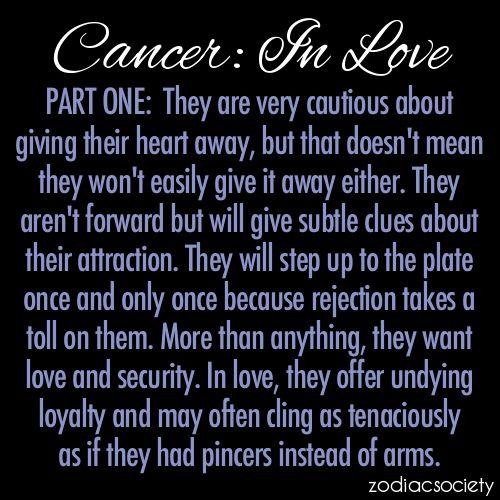 this is so true... Cancer zodiac