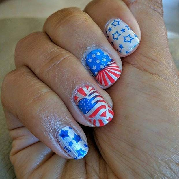 The 25 best funky nail designs ideas on pinterest funky nails 11 more funky and fun 4th of july nail designs prinsesfo Images
