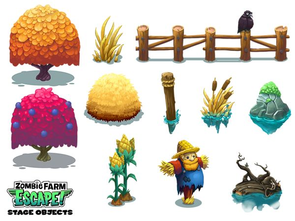 Zombie Farm Escape Concept Art on Behance