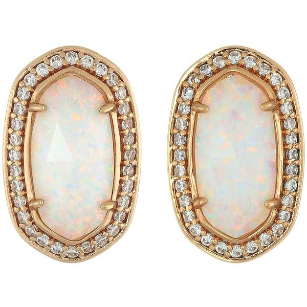 Kendra Scott Elaine Earrings ($100) ❤ liked on Polyvore featuring jewelry, earrings, kendra scott jewelry, pave earrings, kendra scott, rose gold tone earrings and earrings jewelry