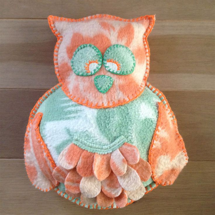 "Pillow from woolen blankets, handmade, ""Owl"" by Beaudeco on Etsy"