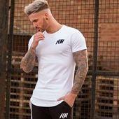 Feb 15, 2020 - Men Short sleeve T-shirt Fitness Workout Cotton t shirt Man O-Neck Letter Printed Slim Tops Casual clothing - #Casual #Clothing #Cotton #Fitness #Letter #Man #Men #ONeck #Printed #Shirt #Short #Sleeve #Slim #Tops #tshirt #Workout