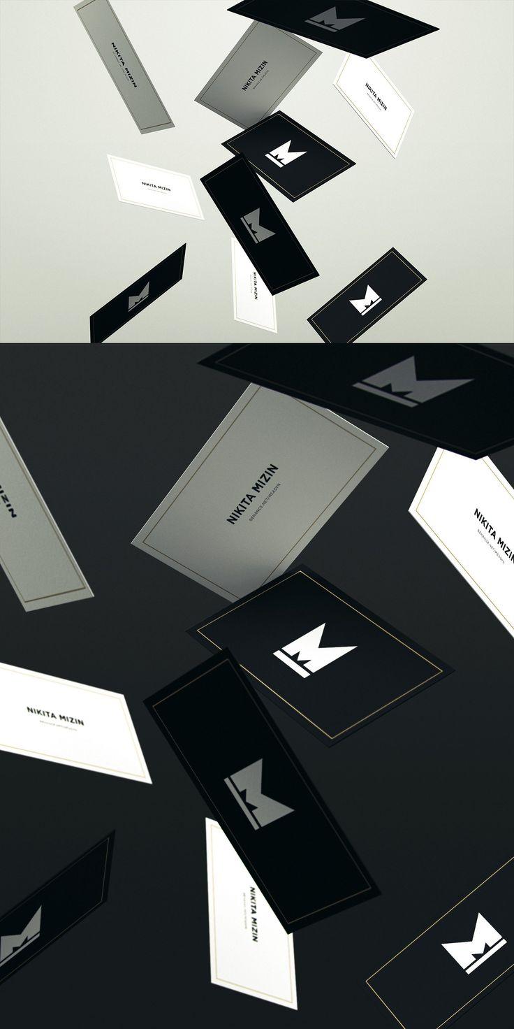 Falling business cards mockup business card mock up