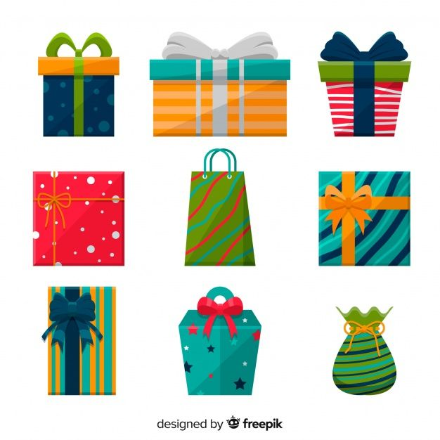 Download Christmas Gift Box Collection In Flat Design For Free Christmas Gift Box Christmas Gifts Gifts