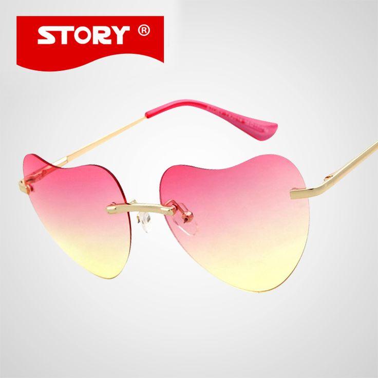 $5.94 (Buy here: https://alitems.com/g/1e8d114494ebda23ff8b16525dc3e8/?i=5&ulp=https%3A%2F%2Fwww.aliexpress.com%2Fitem%2FGUOXUAN-Heart-Shaped-WOMENS-Sunglasses-Brand-Designer-Metal-Frame-Sun-Glasses-Vintage-Sports-Glasses-oculos-de%2F32515008106.html ) STORY Heart Shaped Womens Sunglasses Brand Designer Metal Frame Sun Glasses Vintage 6 color oculos de sol feminino STORY UV400 for just $5.94