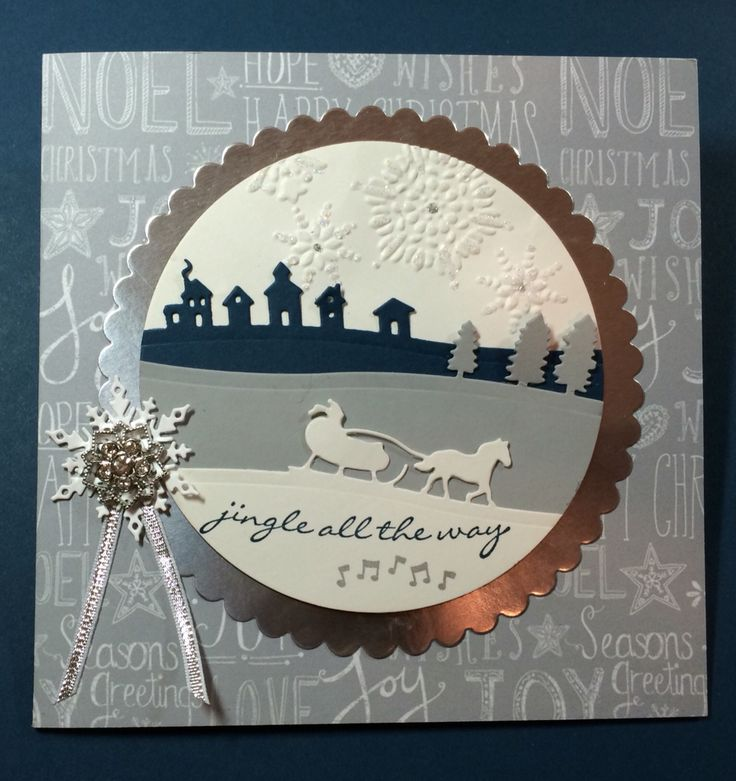 Stampin' Up! Sleigh Ride Edgelits & Jingle All The Way stamp set.