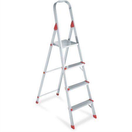Louisville 4' Euro Aluminum Platform Ladder, Multicolor