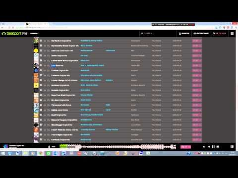 This is how I pick my music on Beatport....