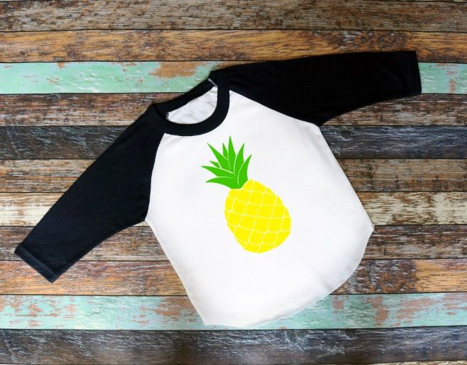 Pineapple, Pineapple Shirt, Kids Pineapple Shirt, Kids T-Shirt, Raglan Shirt…