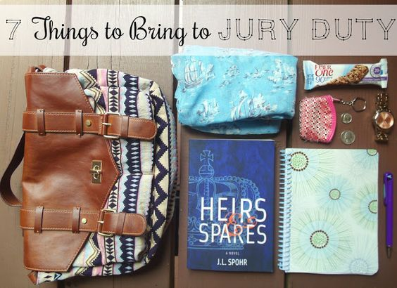 Seven Things to Bring to Jury Duty - I brought most of these and my day went smooth! Great tips!!