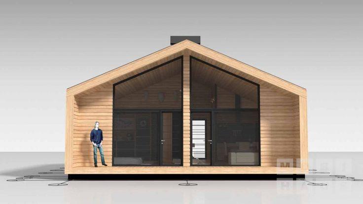 Серия Hammer — мини дома от 55 кв.м, Хайтек, шале, комплекты для самостоятельной сборки